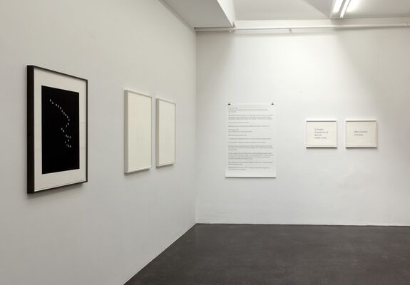 BETHAN HUWS - Works on Paper, installation view