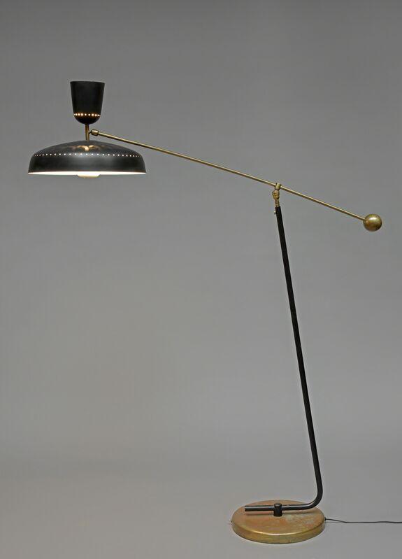 Pierre Guariche, 'Floorlamp G1 SPEdition Pierre Disderot', 1951, Design/Decorative Art, Black lacquered metal and gold brass, Galerie Pascal Cuisinier