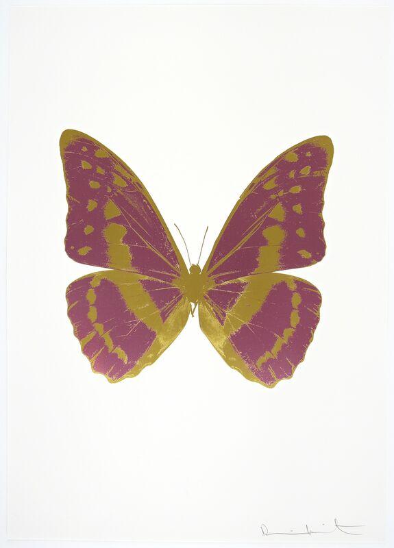 Damien Hirst, 'The Souls III - Loganberry Pink - Oriental Gold - Oriental Gold', 2010, Print, Three Colour Foil Block Print, Samuel Owen Gallery