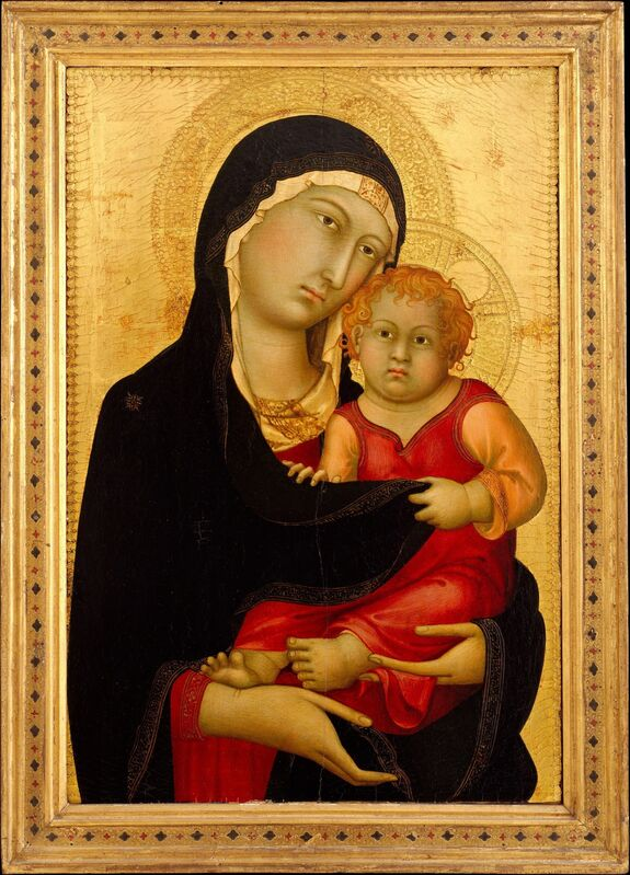 Simone Martini, 'Madonna and Child', ca. 1326, Painting, Tempera on wood, gold ground, The Metropolitan Museum of Art