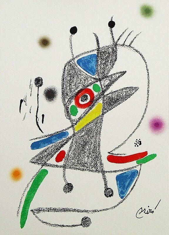 Joan Miró, 'Maravillas con variaciones acrósticas en el jardín de Miró II', 1975, Print, Lithograph on Gvarro paper, ARTETRAMA
