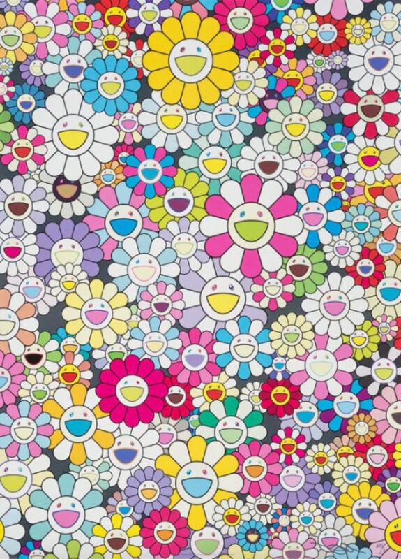 Takashi Murakami, 'Shangri-La Shangri-La Multicolor', 2013, Print, Offset lithograph in colors on satin wove paper, Upsilon Gallery