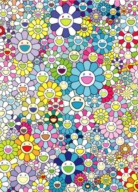 Takashi Murakami, 'Champagne Supernova: Blue', 2013, Print, Offset lithograph in colors, on wove paper, Upsilon Gallery