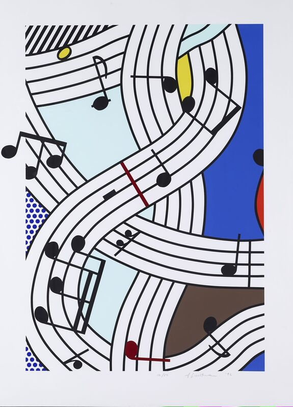 Roy Lichtenstein, 'Composition I', 1996, Print, Original screenprint in colors on Lanaquarelle watercolor paper, michael lisi / contemporary art