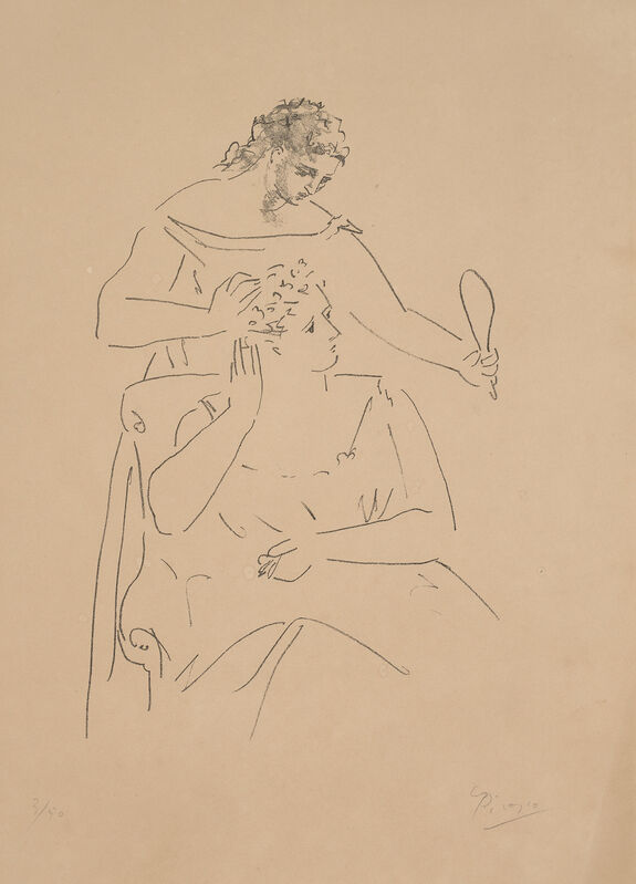 Pablo Picasso, 'La Coiffure (The Hairstyle)', 1923, Print, Lithograph, on Van Gelder Zonen paper, with full margins., Phillips