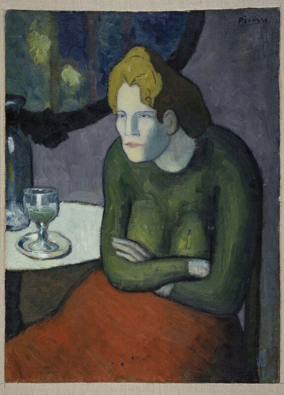Pablo Picasso, 'Buveuse d'absinthe (The Absinthe Drinker)', 1901, Painting, Oil on canvas, Museo Reina Sofía