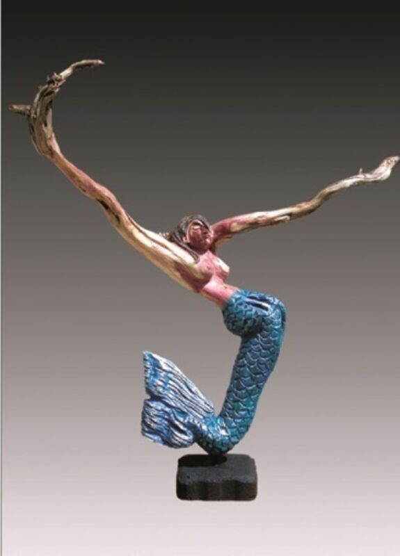 Bernie Houston, 'Marine Life', Sculpture, Carved driftwood with hand punched skin, acrylic and metallic paints, Zenith Gallery