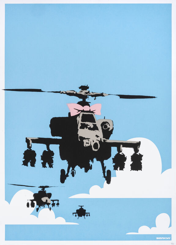 Banksy, 'Happy Choppers', 2003, Print, Screenprint in colours on wove paper, Tate Ward Auctions