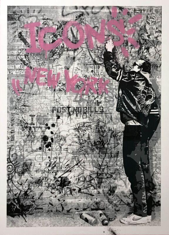 Mr. Brainwash, 'The Wall (Pink)', 2012, Print, Screenprint and spray paint on archival paper, Taglialatella Galleries