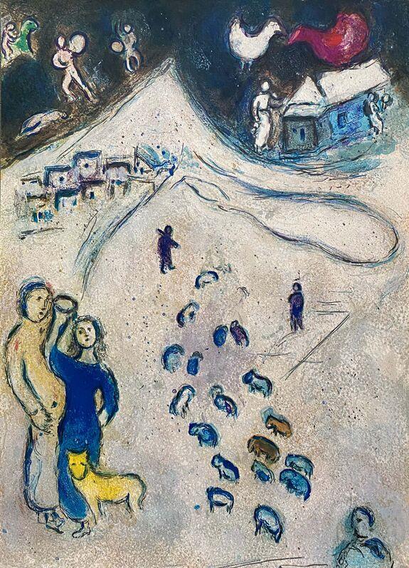 "Marc Chagall, '""L'Hiver (Winter),"" from Daphnis et Chloé (Cramer 46; Mourlot 333)', 1977, Print, Offset lithograph on wove paper, Art Commerce"