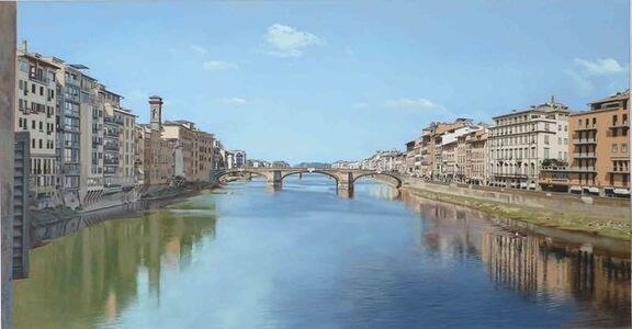 David Wheeler, 'View of River Arno from Ponte Vecchio Bridge'