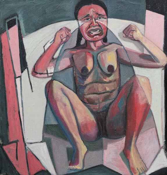 Mequitta Ahuja, 'Crying Portrait', 2018