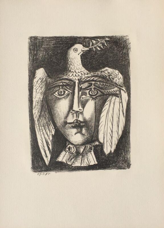 Pablo Picasso, 'Le Visage de la Paix (B. 687)', 1951, Print, Lithograph, Denis Bloch Fine Art