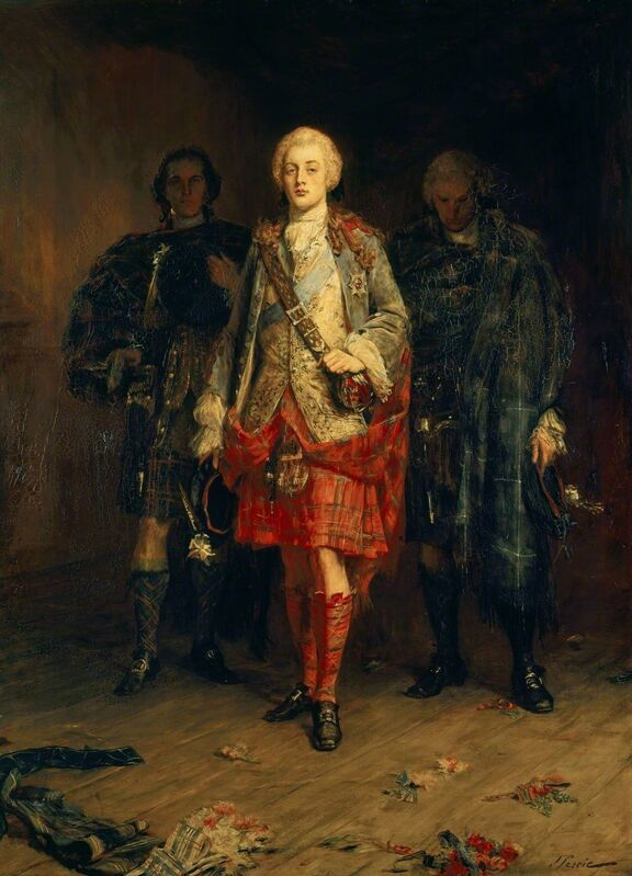 John Pettie, 'Bonnie Prince Charlie Entering the Ballroom at Holyroodhouse', ca. 1892, Painting, Royal Collection Trust