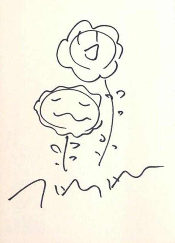 Takashi Murakami, 'Flower Drawing', ca. 2001, Ephemera or Merchandise, Marker on paper, EHC Fine Art