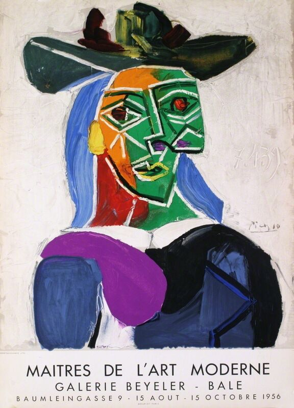 Pablo Picasso, 'Woman with Hat', 1956, Print, Lithograph, ArtWise