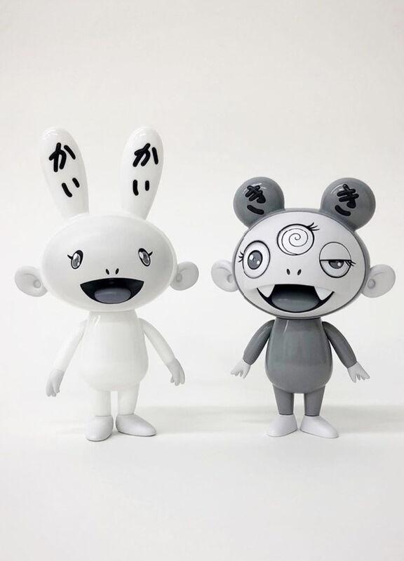Takashi Murakami, 'Kaikai and kiki set (black and white)', 2019, Sculpture, Vinyl, Dope! Gallery Gallery Auction