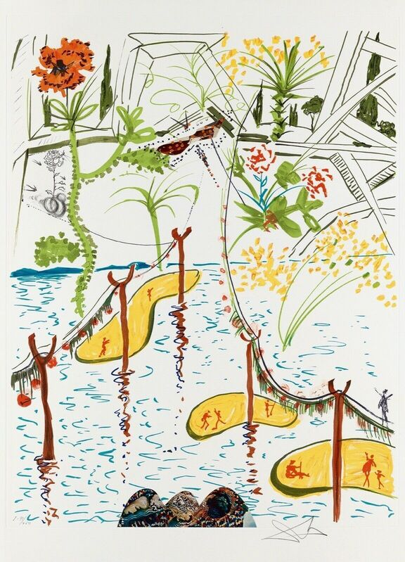 Salvador Dalí, 'Biological Garden (Imagination & Objects of the Future Portfolio)', 1975, Print, Lithograph on Arches paper, Art Commerce