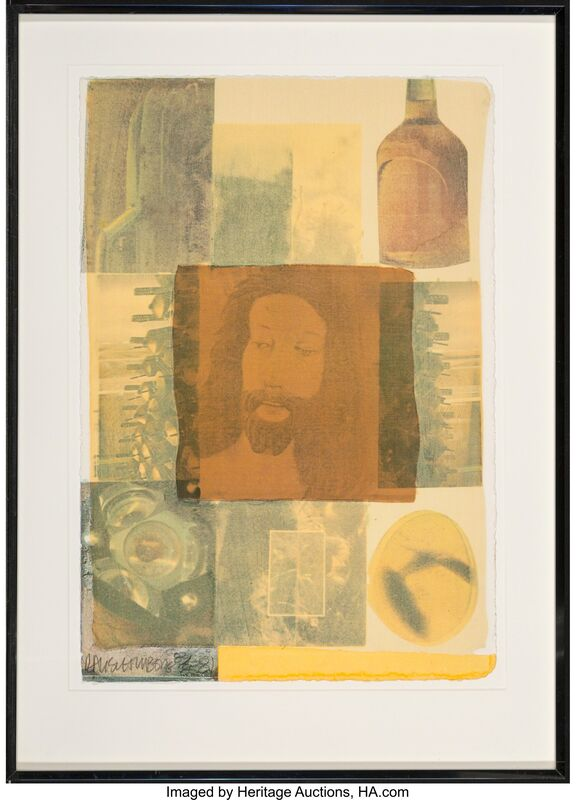 Robert Rauschenberg, 'Arcanum VI', 1981, Print, Screenprint in colors with collage on paper, Heritage Auctions