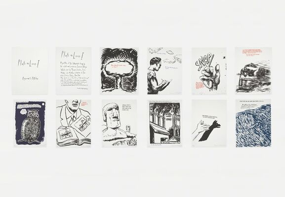 Prints by Raymond Pettibon Online Viewing Room, installation view