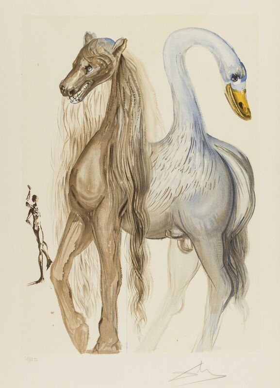 Salvador Dalí, 'La Chimère d'Horace (Field 72-6H; M&L 1270a)', 1970/2, Print, Lithograph printed in colours with embossing, Forum Auctions