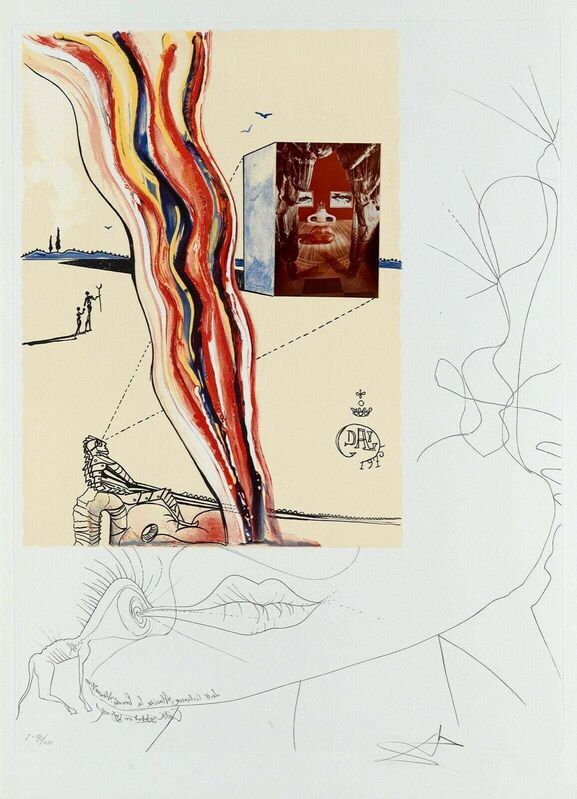 Salvador Dalí, 'Liquid & Gaseous Television (Imagination & Objects of the Future Portfolio)', 1975, Print, Lithograph on Arches paper, Art Commerce