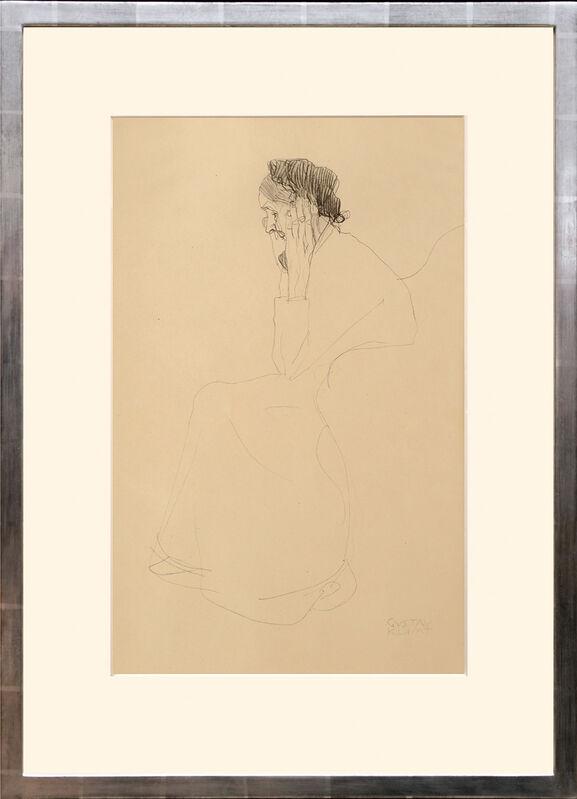 Gustav Klimt, 'Studie einer alten Frau. (Study of an Old Woman.)', 1919, Print, Collotype on matt art paper tipped onto thin cream card with mount as issued., Peter Harrington Gallery