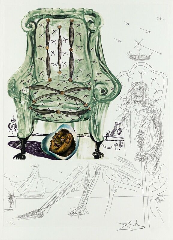 Salvador Dalí, 'Breathing Pneumatic Armchair (Imagination & Objects of the Future Portfolio)', 1975, Print, Lithograph on Arches paper, Art Commerce