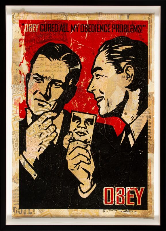 Shepard Fairey, 'Obey '99 (HPM)', 2005, Print, Screenprint in colors and mixed media collage on paper, Heritage Auctions
