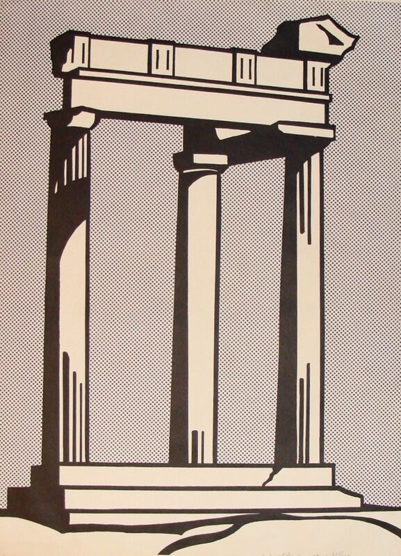 Roy Lichtenstein, 'Temple', 1964, Print, Offset Lithograph in colors on wove paper, Thou Art