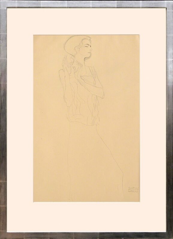 Gustav Klimt, 'Skizze zu einem Fries im Palais Stocklettes, Brüssel. (Sketch of a Frieze in the Palace Stock Lette, Brussels.)', 1919, Print, Collotype on matt art paper tipped onto thin cream card with mount as issued., Peter Harrington Gallery