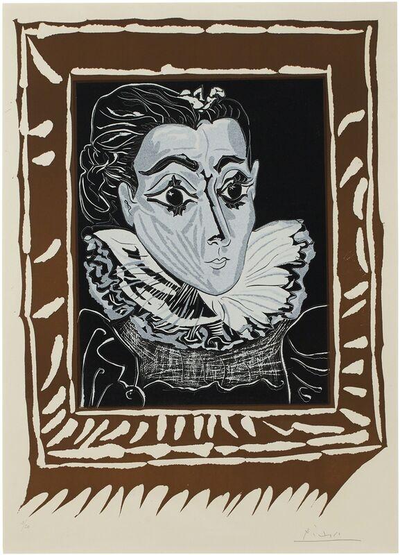 Pablo Picasso, 'La Dame à la collerette', 1962, Print, Linocut in colors, on Arches paper, Christie's
