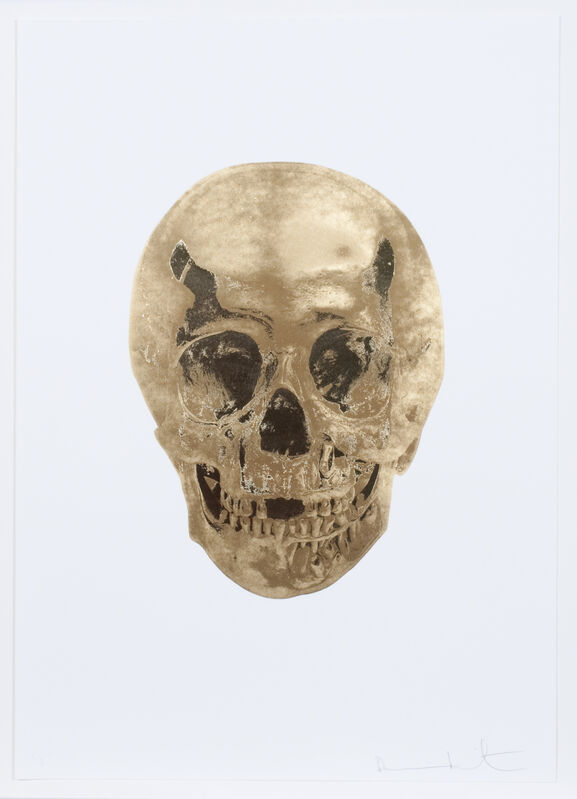 Damien Hirst, 'Death or Glory - Autumn Gold / Cool Gold Glorious Skull', 2011, Print, Foilprint, Weng Contemporary