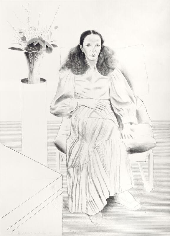 David Hockney, 'Brooke Hopper', 1976, Print, Lithograph, Galerie Lelong & Co.