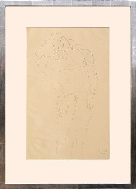 Gustav Klimt, 'Weiblicher Akt, stehend. (Female Nude, Standing.)', 1919, Print, Collotype on matt art paper tipped onto thin cream card with mount as issued, Peter Harrington Gallery
