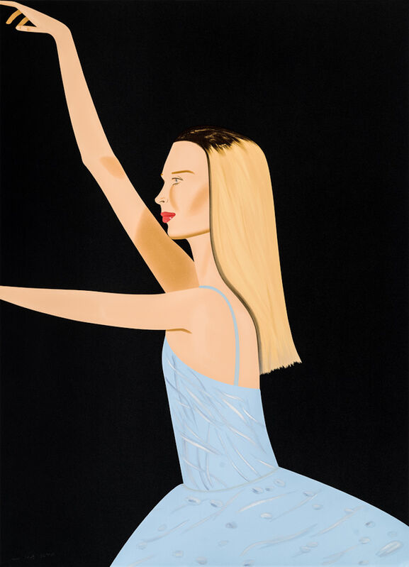 Alex Katz, 'DANCER 2', 2019, Print, Silkscreen in colors on Saunders Waterford HP High White 425 gsm paper, New Art Editions