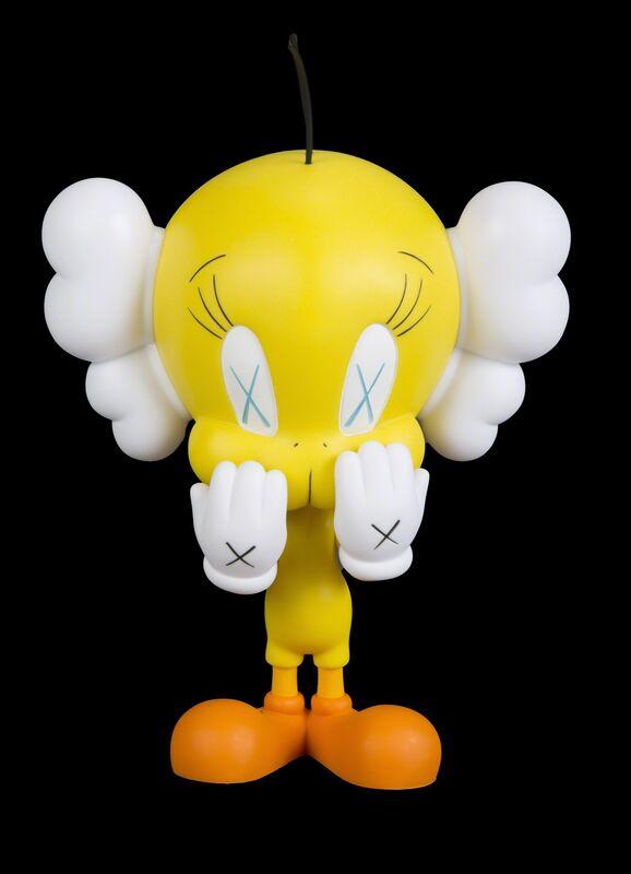 KAWS, 'Tweet', 2010, Sculpture, Painted vinyl figure with original box, Julien's Auctions