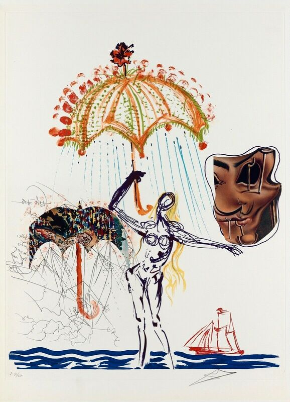 Salvador Dalí, 'Anti-Umbrella w/ Atomized Liquid (Imagination & Objects of the Future)', 1975, Print, Lithograph on Arches paper, Art Commerce