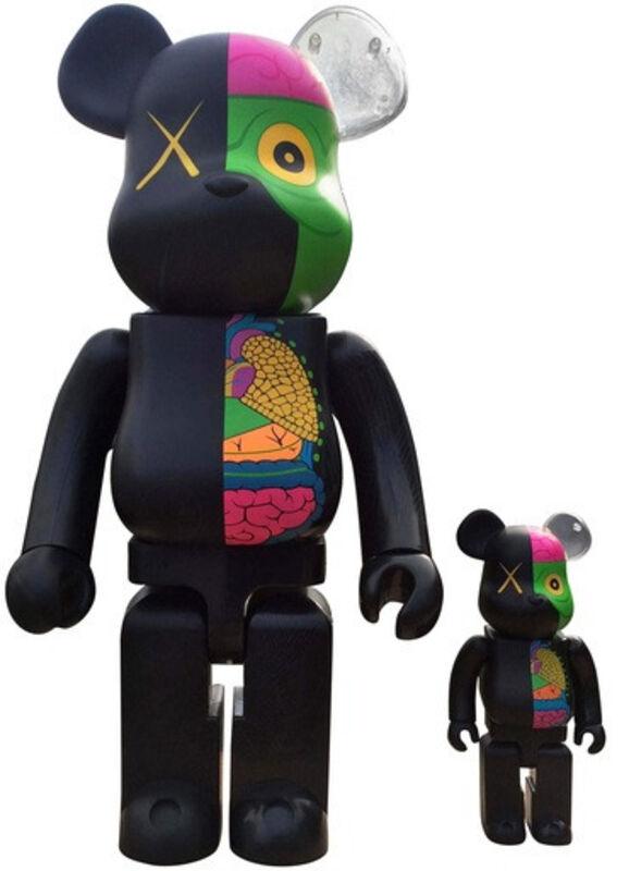 KAWS, 'Dissected Companion: Bearbrick 400% & 100% (Black)', 2010, Sculpture, Plastic, Lougher Contemporary