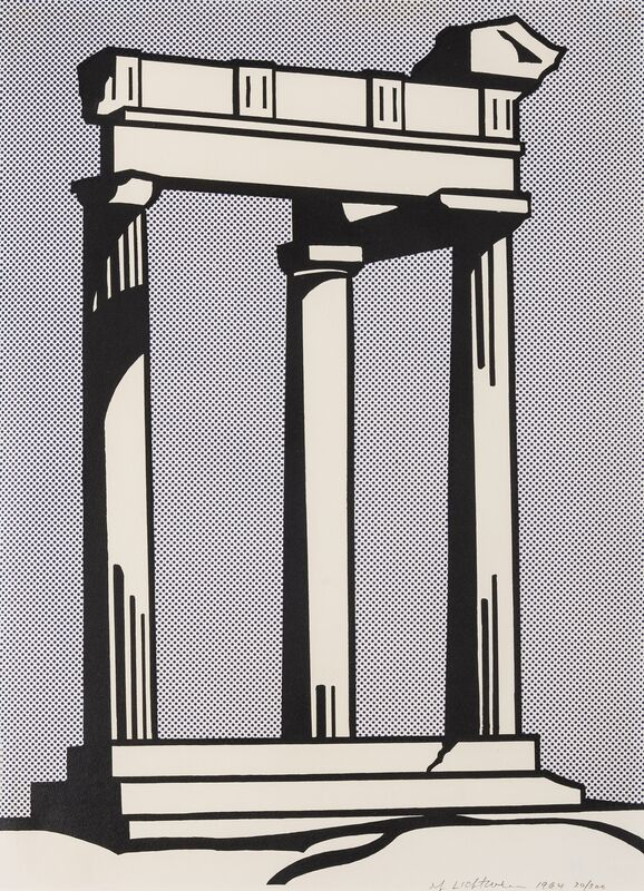 Roy Lichtenstein, 'Temple (Corlett II.3)', 1964, Print, Lithograph printed in colours, Forum Auctions