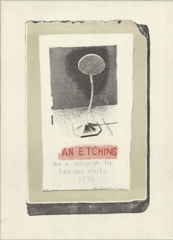 David Hockney, 'An Etching & a Lithograph', 1973, Ephemera or Merchandise, Stone Lithograph, ArtWise