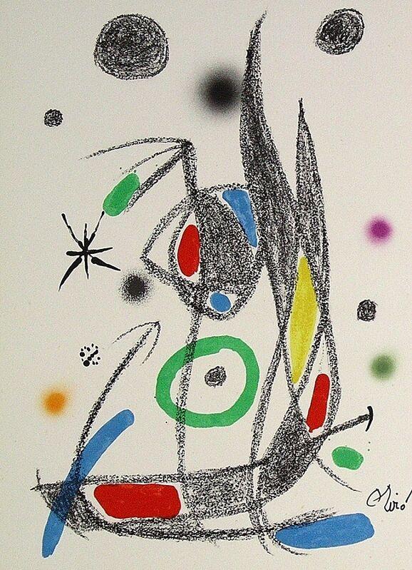 Joan Miró, 'Maravillas con variaciones acrósticas en el jardín de Miró XIV', 1975, Print, Lithograph on Gvarro paper, ARTETRAMA
