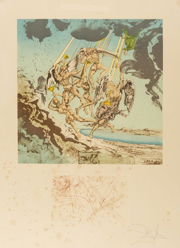 Salvador Dalí, 'The Return of Ulysses (Field 77-4A; M&L 934&1495)', 1977-78, Print, Etching and lithograph printed in colours, Forum Auctions