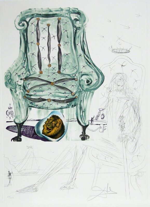 Salvador Dalí, 'Breathing Pneumatic Armchair', 1975, Print, Lithograph with Collage, RoGallery