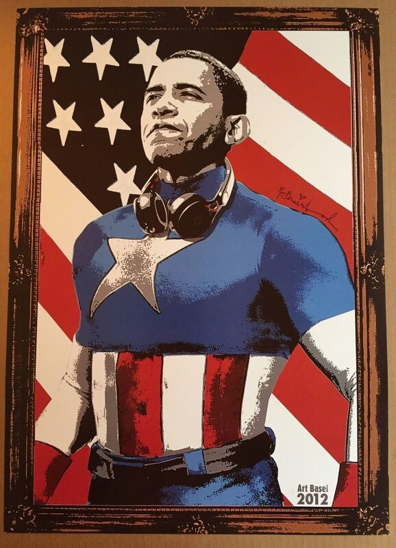 Mr. Brainwash, 'Captain America ', 2012, Posters, Lithograph, New Union Gallery