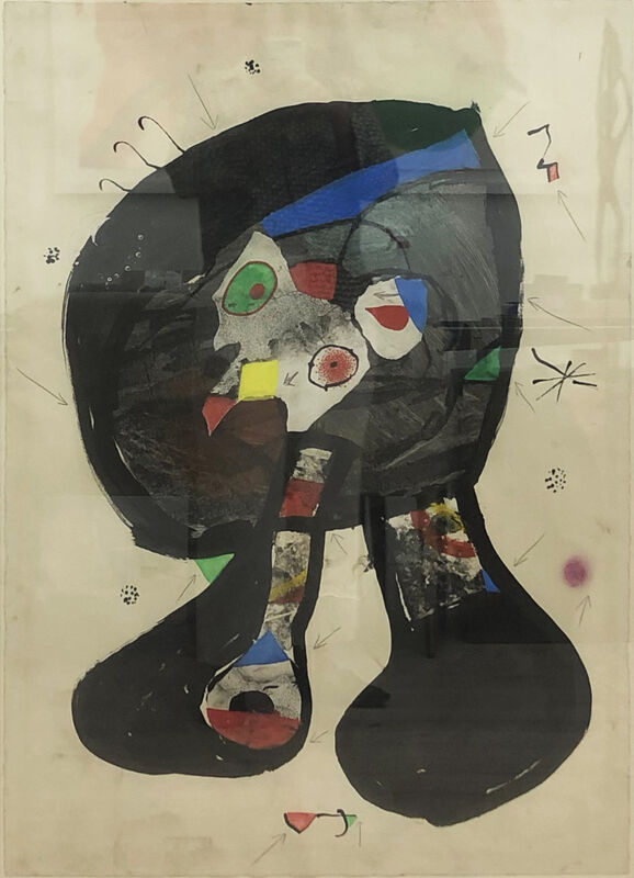Joan Miró, 'Fantôme de l'Atelier,', 1981, Drawing, Collage or other Work on Paper, Gouache, watercolor, brush and ink, collage and pencil on paper, Rosenfeld Gallery LLC