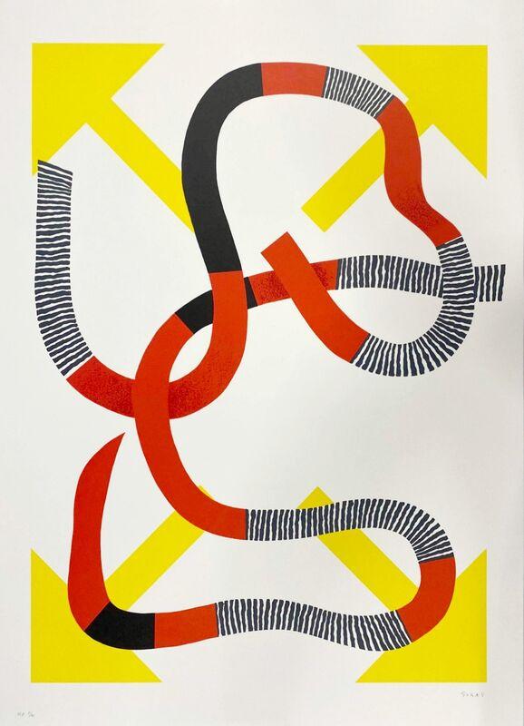 Kumi Sugaï, 'Quatre flèches', 1990, Print, Original lithograph on Guarro paper, Samhart Gallery