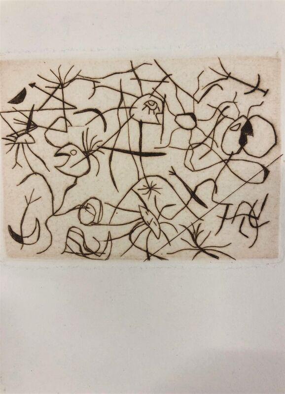 Joan Miró, 'Astres et Danseurs', 1956, Print, Original etching on wove paper, Samhart Gallery