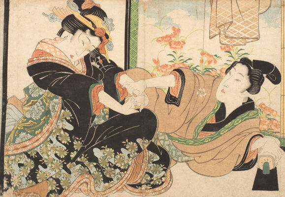 World of Shunga Exhibition Ukiyo-e Shunga, installation view