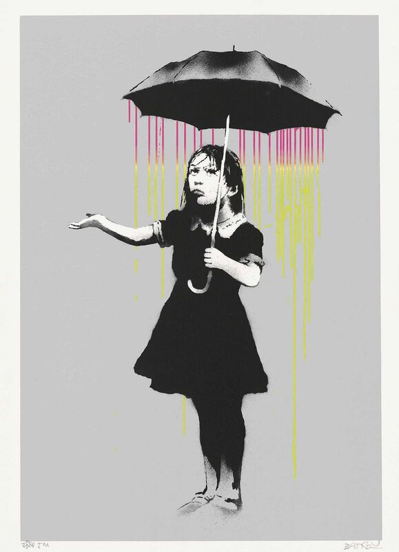 Banksy, 'Nola (Pink and Yellow Rain)', 2008, Print, Screenprint in colours, on Arches wove paper, Gallery Red